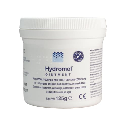 Hydromol Ointment for Dry skin, Eczema and Psoriasis 125g