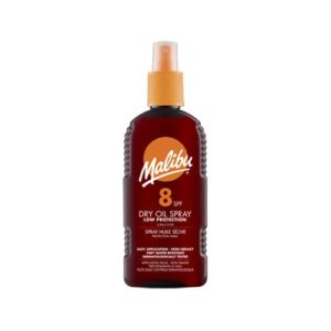 Malibu Dry Oil Tanning Sun Protective Spray Spf8 200ml