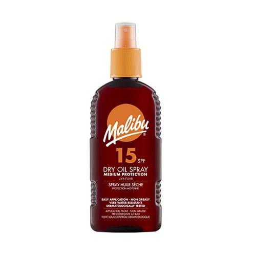 Malibu Suntan Dry Oil Spray SPF15 Medium Protection Water Resistant 200ml