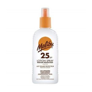 Malibu Suntan Lotion SPF 25 Water Resistant Uva/Uvb Medium Protection 200ml