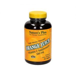 Nature's Plus Orange Juice C 500 Mg Chewable 90 Tablets