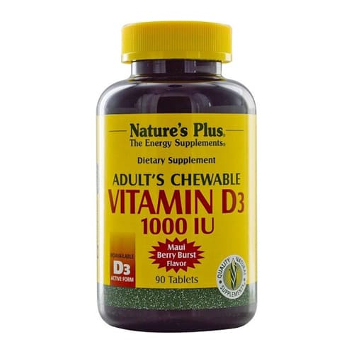Nature's Plus Adults Vitamin D3 1000iu - 90 Chewable Tablet