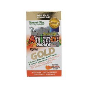 Nature's Plus Animal Parade Gold Children's Multi-Vitamin & Mineral Orange Flavor - 60 capsules