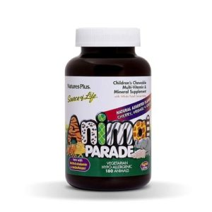 Nature's Plus Animal Parade Multi Vitamin Mineral Supplement 180 Chewable Tablets