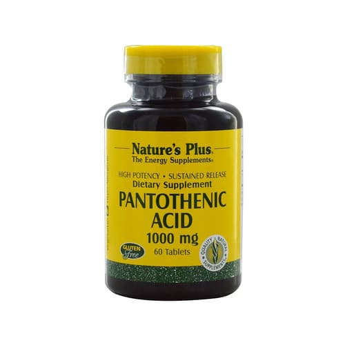 Nature's Plus Pantothenic Acid 1000 Mg 60 Tablets