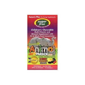 Nature's Plus Source Of Life Animal Parade Children's Chewable Natural Assorted Flavours 90 Animals
