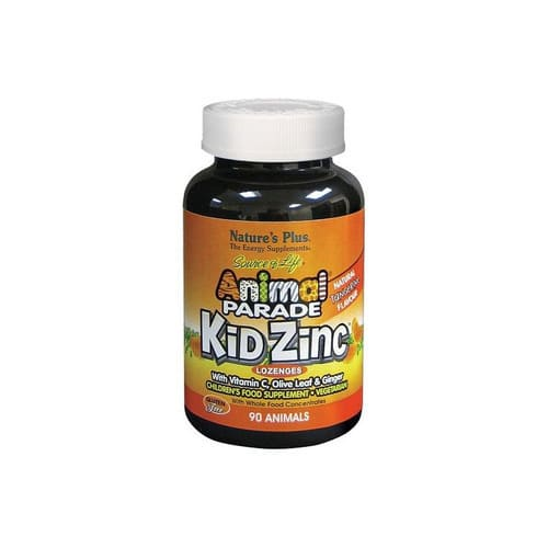 Nature's Plus Source Of Life Animal Parade Kid Zinc Lozenges Natural Tangerine Flavour 90 Animals