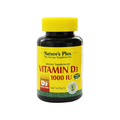 Nature's Plus Vitamin D3 1000iu - 180 Softgels