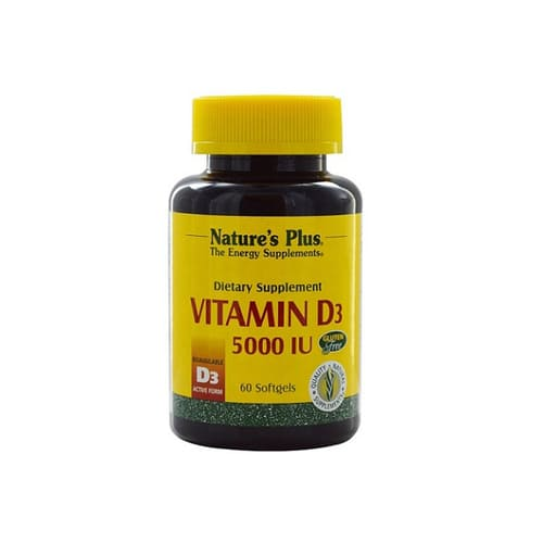 Nature's Plus Vitamin D3 5000 IU - 60 Softgels