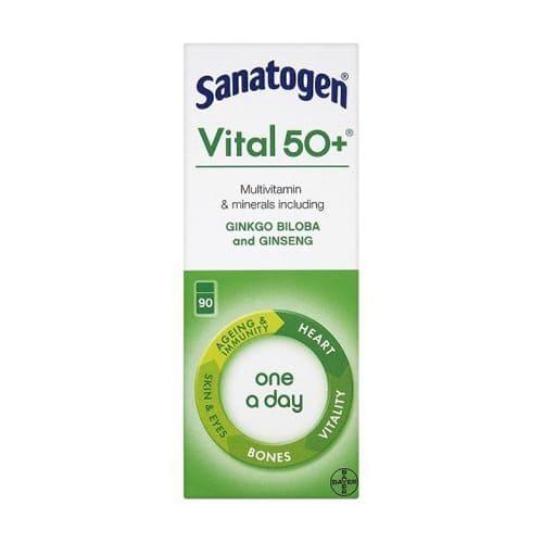 Sanatogen Vital 50+ Multivitamin & Mineral Supplement - 90 Tablets