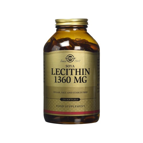 Solgar 1360mg Soya Lecithin Softgels - 250 Softgels