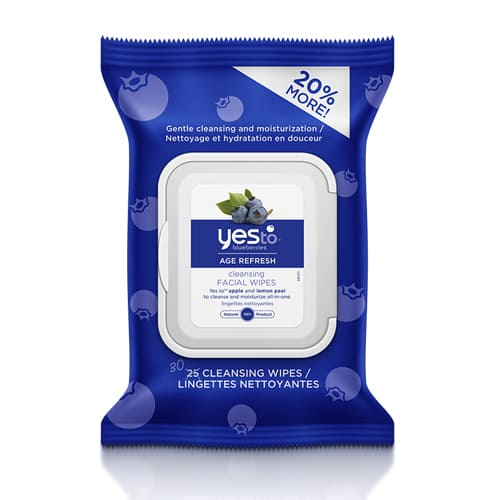 Yes To Blueberries Age Refresh Cleansing Facial Wipes (25 Count)