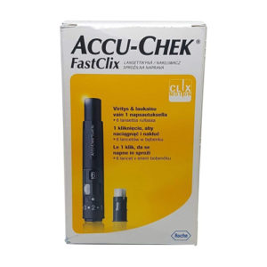 Accu-Chek Fastclix Finger Pricked Lancing Device + 6 Lancets