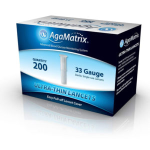 Agamatrix Ultrathin Lancets 33g 200 Pack