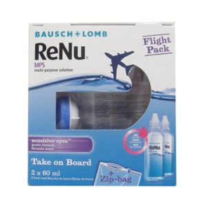 Bausch & Lomb Renu Mps Multi-Purpose Contact Lens Solution - Flight Pack  2x 60ml
