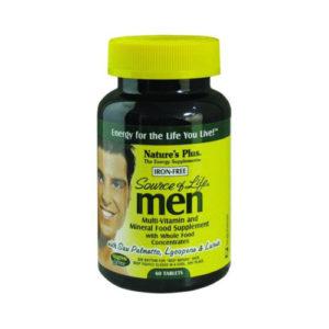 Nature's Plus Source Of Life Men's Multi Iron Free Tabs 60
