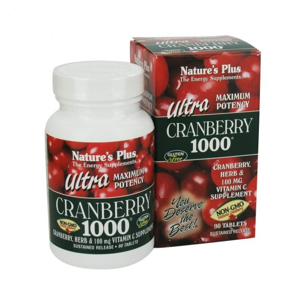 Nature's Plus Ultra Cranberry 1000 Mg Tablets 90