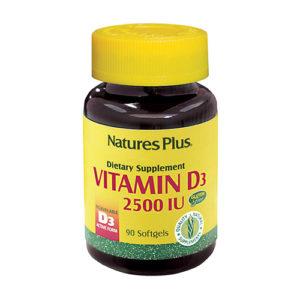 Nature's Plus Vitamin D3 2500iu - 90 Softgels