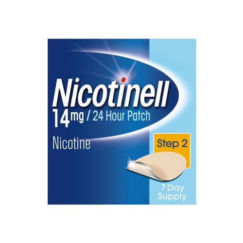 Nicotinell Nicotine Patches Stop Smoking Aid (14 Mg 24-Hour Step 2 7-Day)