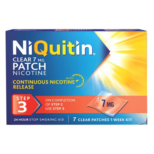 Niquitin Clear 24 Hour 7 Patches Step 3 7mg - 1 Week Kit