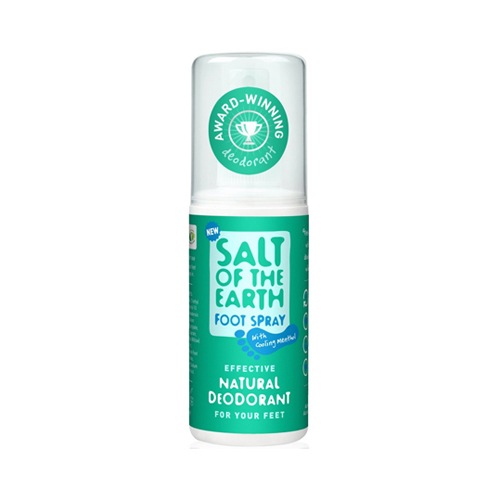 Salt Of The Earth Natural Foot Deodorant With Cooling Menthol 100ml
