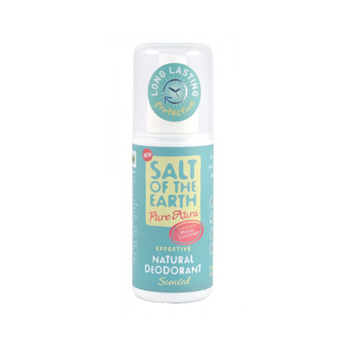 Salt Of The Earth Pure Aura Melon & Cucumber Scented. Effective Natural Deodorant 100ml
