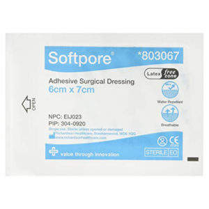 Softpore Dressing 6x7cm 60's