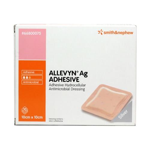 Allevyn AG Adhesive dressing 10cm x 10cm