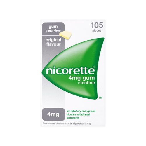 Nicorette Original Chewing Gum 4mg - 105 Pieces
