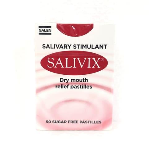 Salivix Salivary Stimulant Dry Mouth Relief Pastilles 50 Sugar Free Pastilles