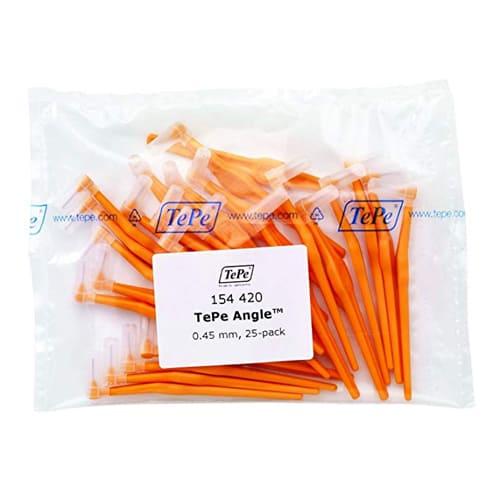Tepe Interdental Angle Brush Orange 0.45mm - Pack of 25