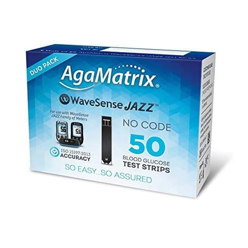 Agamatrix Wavesense Jazz Duo Test Strips 50
