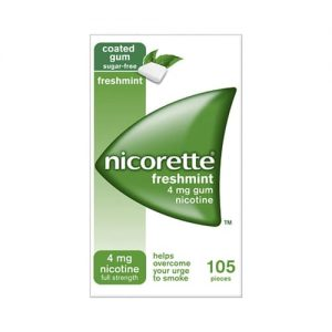 Nicorette Fresh Mint Chewing Gum 4mg 105 Pieces