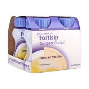 Nutricia Fortisip Compact Protein Vanilla 125ml x 4
