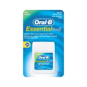 Oral B Essential Floss Mint Waxed 50 Medium