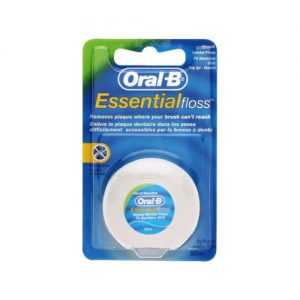 Oral B Essential Waxed Dental Floss 50m