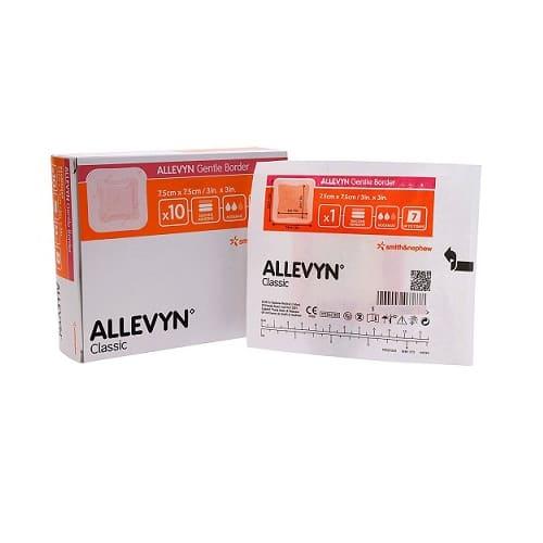Allevyn Gentle Border Adhesive Foam Border Dressing 7.5cm X 7.5cm (10)