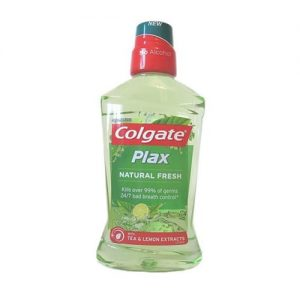 Colgate Plax Natural Fresh Tea and Lemon Extracts Mouthwash 500ml