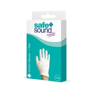 Safe & Sound Gloves Cotton Large