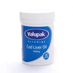 Valupak Vitamins Cod Liver Oil Capsules 400mg 30 Capsules