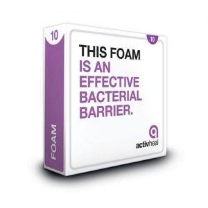 Activheal Foam Island Adhesive 10cm X 10cm - 10009109