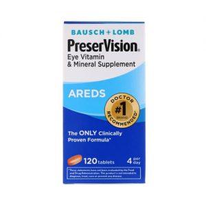 Bausch & Lomb Preser Vision Multivitamin & Mineral 120 Tablets