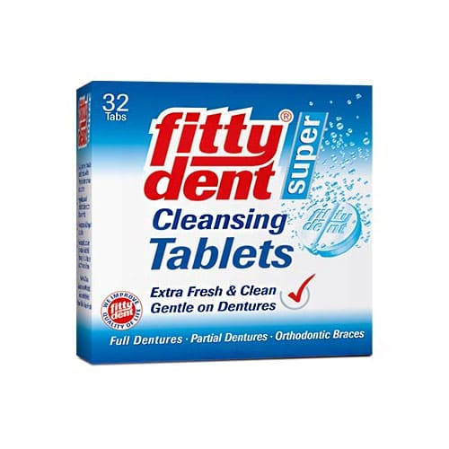 Fittydent Super Cleansing Tablets 32 Pack