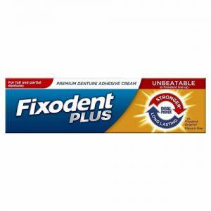 Fixodent Plus Denture Adhesive Cream Dual Power 40g (Case Qty 12)