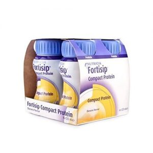 Nutricia Fortisip Compact Protein Banana 125g - Pack Of 4