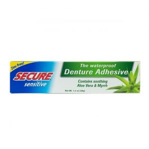 Secure Sensitive Waterproof Denture Adhesive 40g