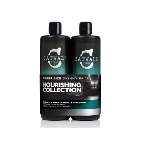 Tigi Catwalk Oatmeal And Honey Shampoo And Conditioner Set 750ml