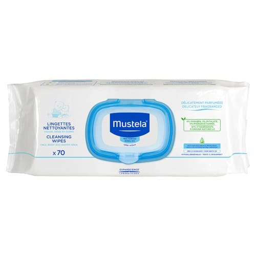 Mustela Cleansing Wipes for Normal Skin 70 Wipes