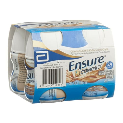 Ensure Compact Cafe Latte 125ml - Pack of 4