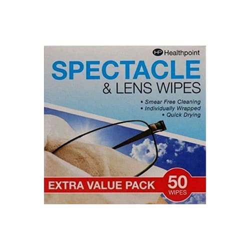 Healthpoint Spectacle and Lens Wipes - Pack Of 50